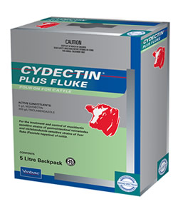 Cydectin Plus Fluke Pour-On fluke treatment for cattle